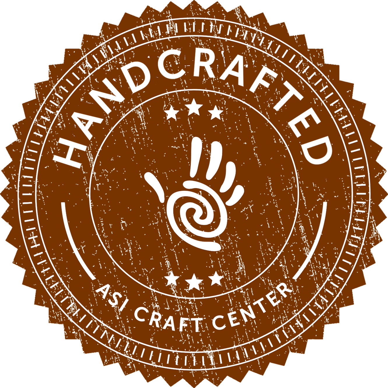 handcrafted asi craft center badge